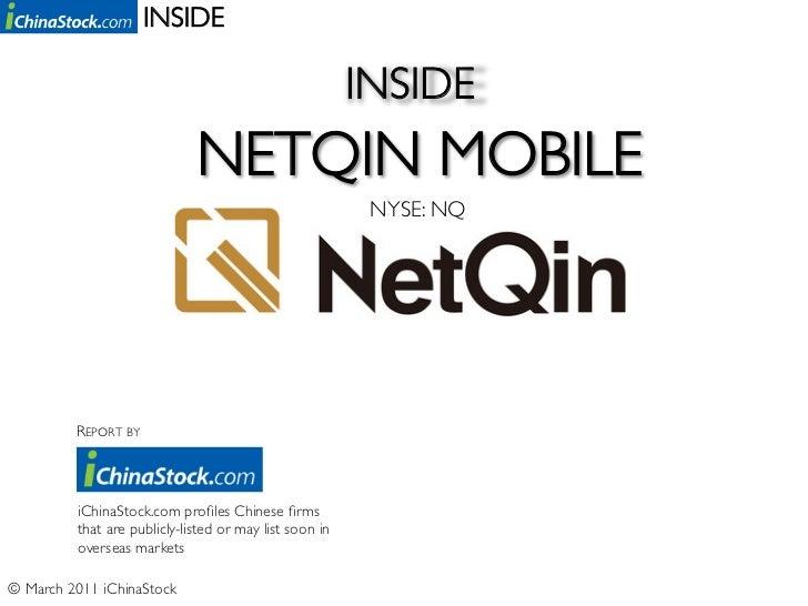 Inside NetQin Mobile Inc. (NYSE: NQ) - By iChinaStock