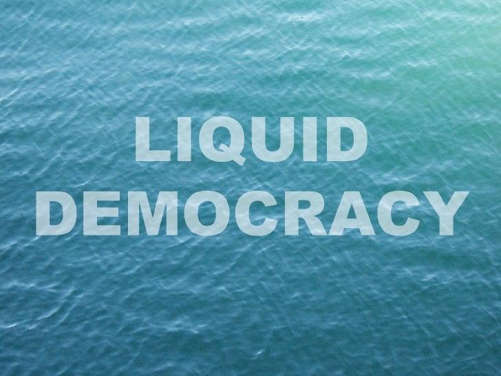 Netroots UK - Liquid Democracy