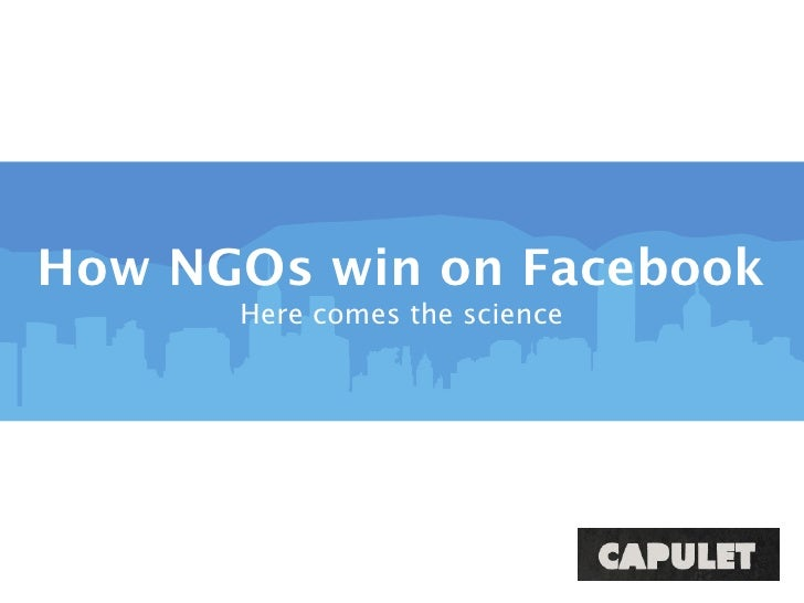 How NGOs win on Facebook