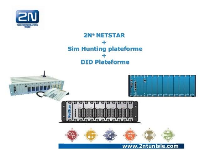 2N® NETSTAR + Sim Hunting plateforme + DID Plateforme  www.2ntunisie.com