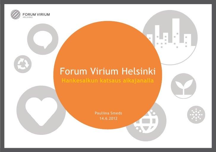 Forum Virium Helsingin hankesalkku aikajanalla