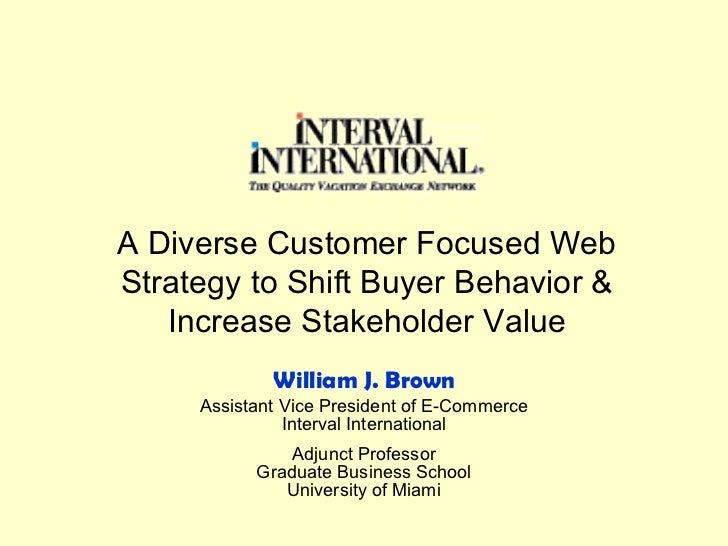 A Diverse Customer Focused Web Strategy to Shift Buyer Behavior & Increase Stakeholder Value Assistant Vice President of E...