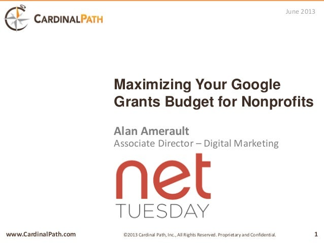 Maximizing your Google Grants budget for Nonprofits