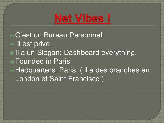 C'est un Bureau Personnel.  il est privé Il a un Slogan: Dashboard everything. Founded in Paris Hedquarters: Paris ( ...