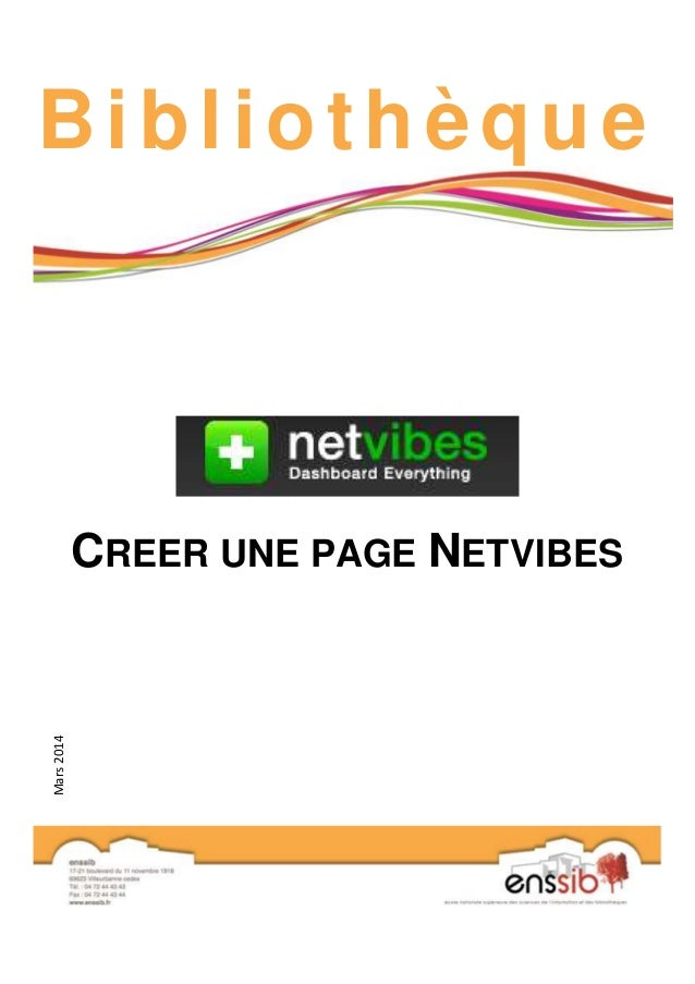 Bibl iothèque  CREER UNE PAGE NETVIBES  Mars 2014