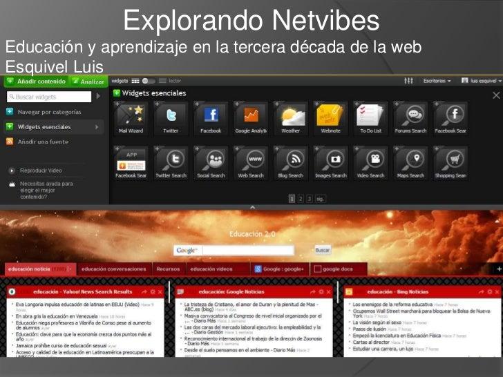 Explorando NetvibesEducación y aprendizaje en la tercera década de la webEsquivel Luis