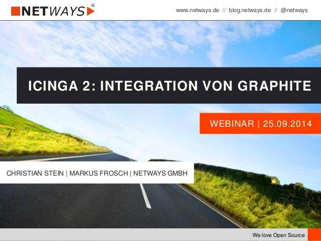 www.netways.de // blog.netways.de // @netways We love Open Source WEBINAR | 25.09.2014 ICINGA 2: INTEGRATION VON GRAPHITE ...