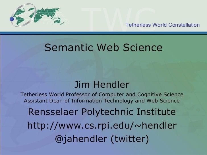Semantic Web Science