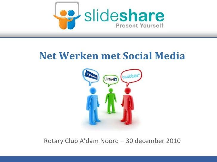 Net werken met social media dec2010