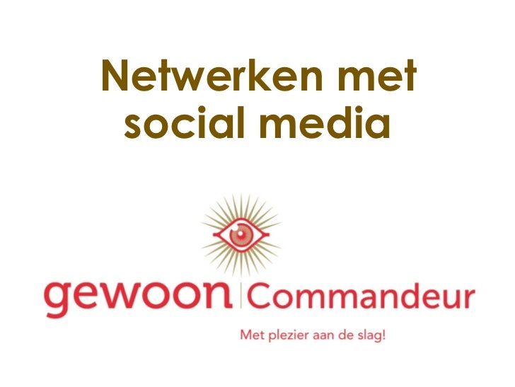 Netwerken via social media 2011 voor Platform LACH
