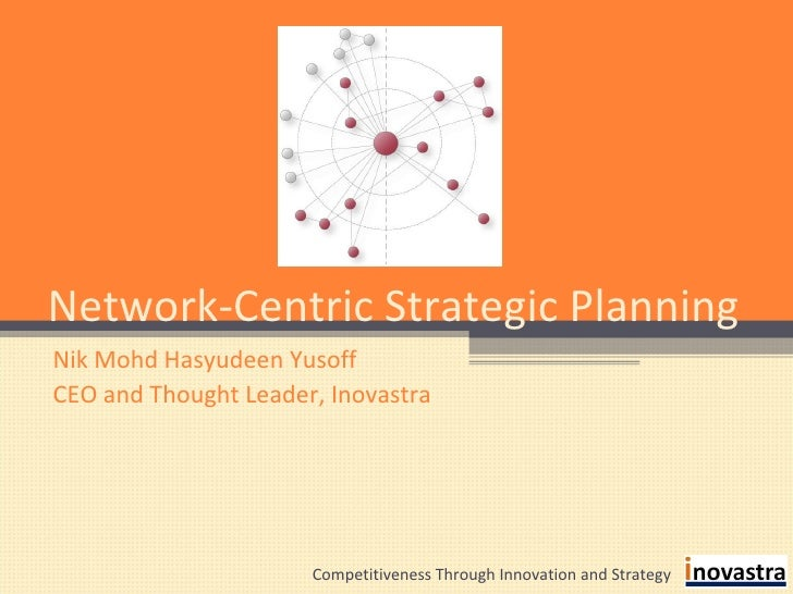 Network-Centric Strategic Planning Nik Mohd Hasyudeen Yusoff CEO and Thought Leader, Inovastra Competitiveness Through Inn...