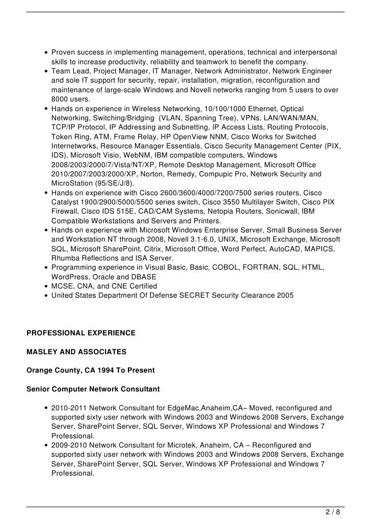 System Administrator Resume Title. Legacy Systems Administrator ...