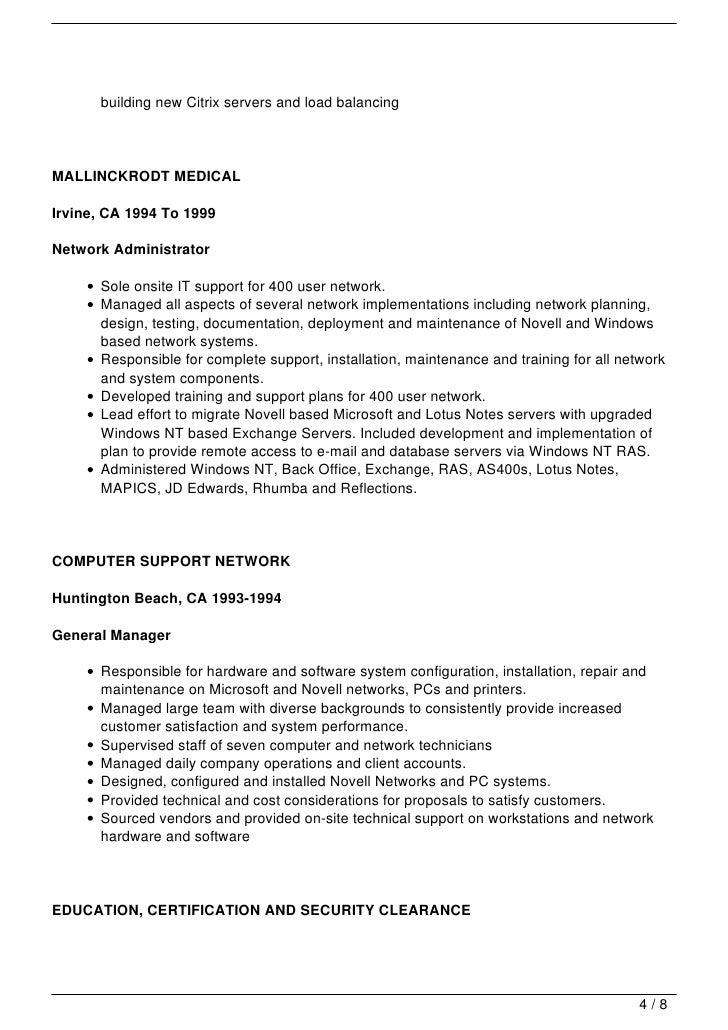 Sample Cover Letter For Network Engineer. Cover Letter Cisco Network  Engineer ...