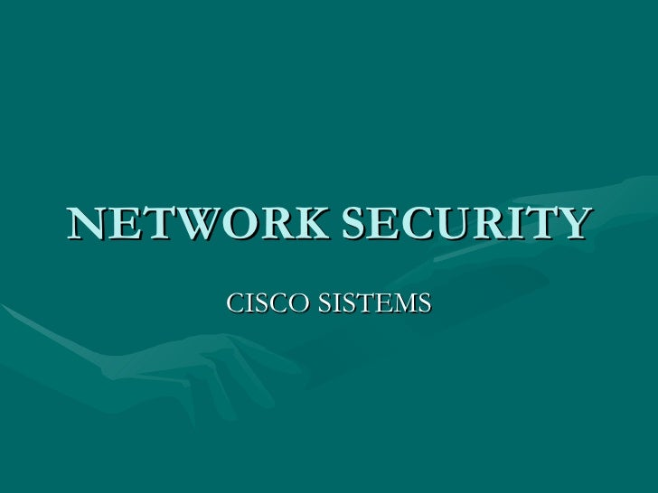 NETWORK SECURITY CISCO SISTEMS