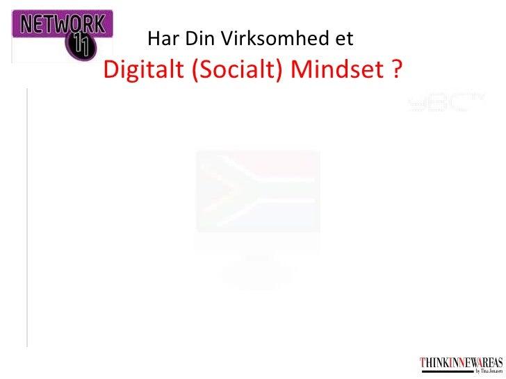 Har Din Virksomhed et  Digitalt (Socialt) Mindset ?