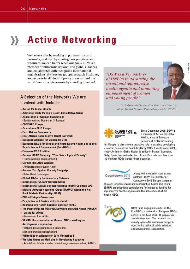 24     N e tw ork s»         Active Networking         We believe that by working in partnerships and         networks, an...