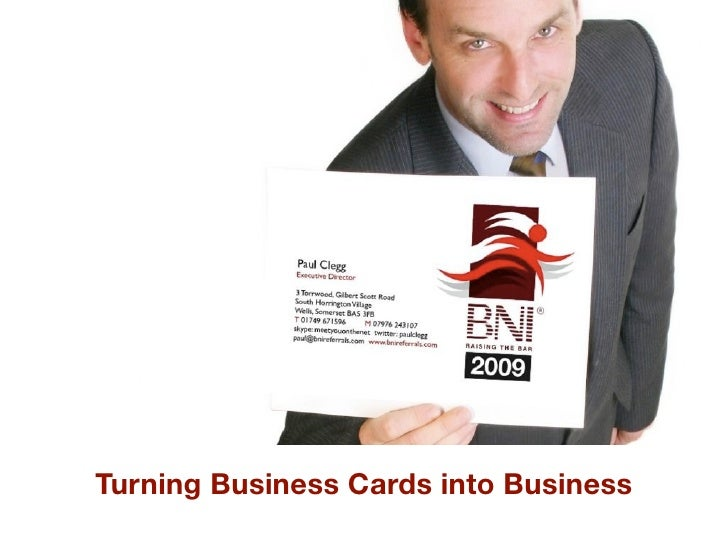 Turning Business Cards into Business