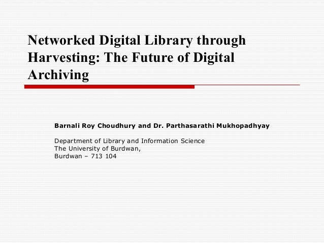 Networked digital library through harvesting