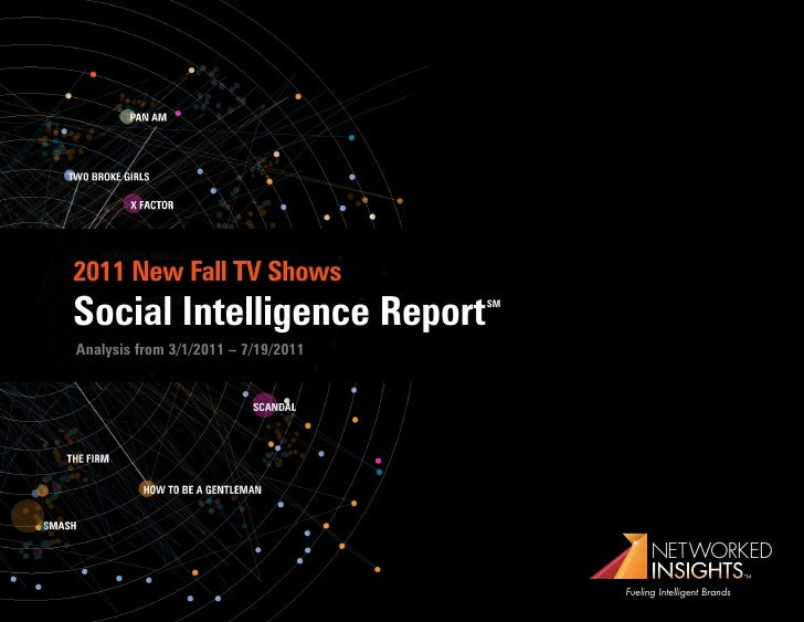 2011 New Fall TV ShowsSocial Intelligence Report           SMAnalysis from 3/1/2011 – 7/19/2011                           ...