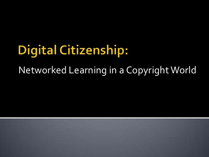 Networked Learning in a Copyright World