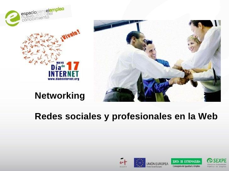Networking  Redes sociales y profesionales en la Web
