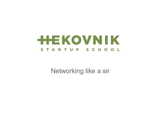 Networking on startup events