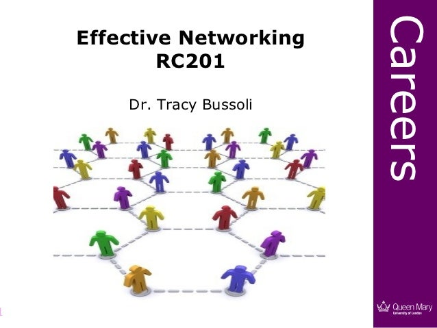 Careers    Effective Networking            RC201        Dr. Tracy Bussoli1