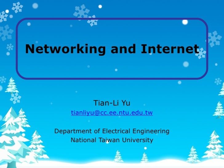 Networking And Internet