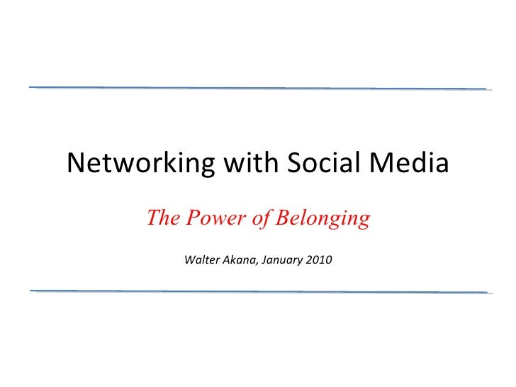 Networking And Social Media  Part 1