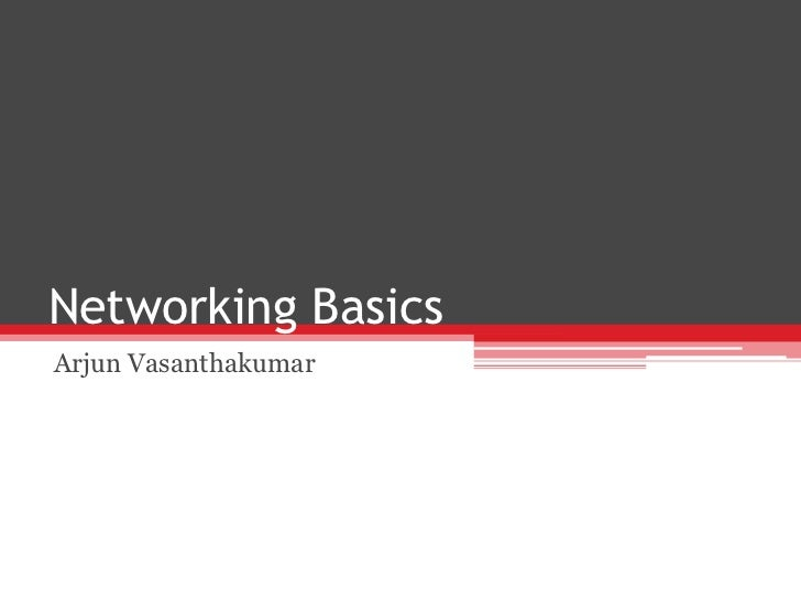 Networking Basics - Sales Account Manager Training