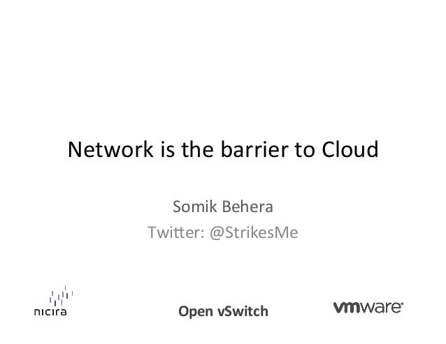 Network is the barrier to Cloud                Somik Behera             Twi6er: @StrikesMe            ...