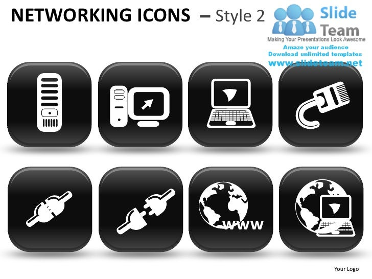 NETWORKING ICONS – Style 2                     www                             Your Logo