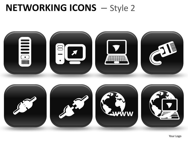 Networking icons style 2 powerpoint presentation templates