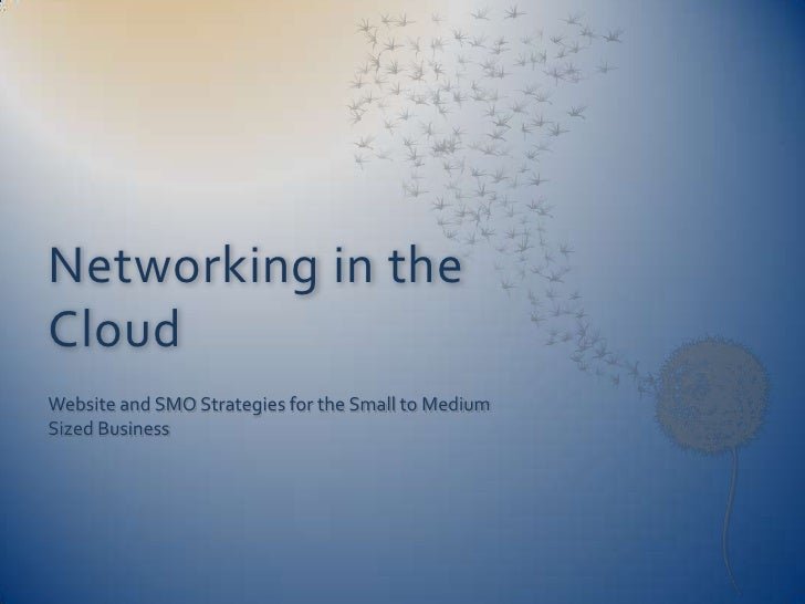 Networking in the Cloud Website and SMO Strategies for the Small to Medium Sized Business