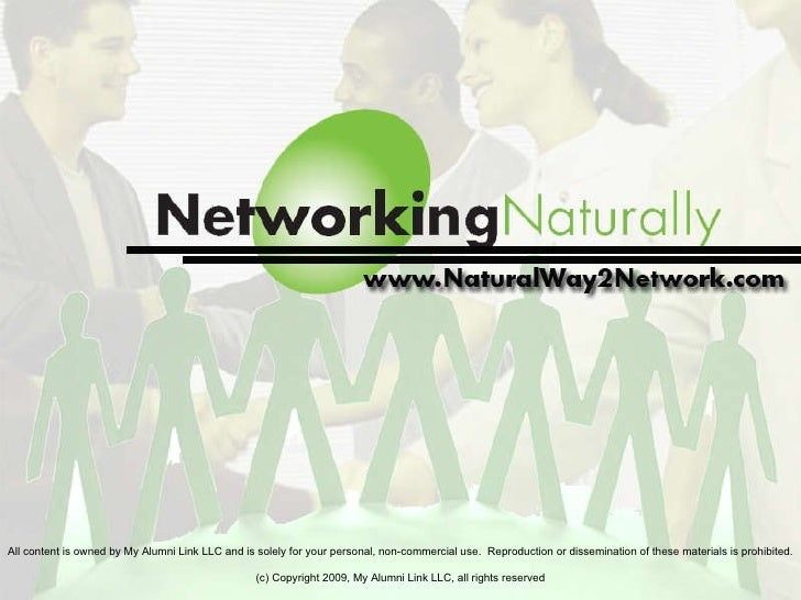 Networking Naturally Principles, October 2009