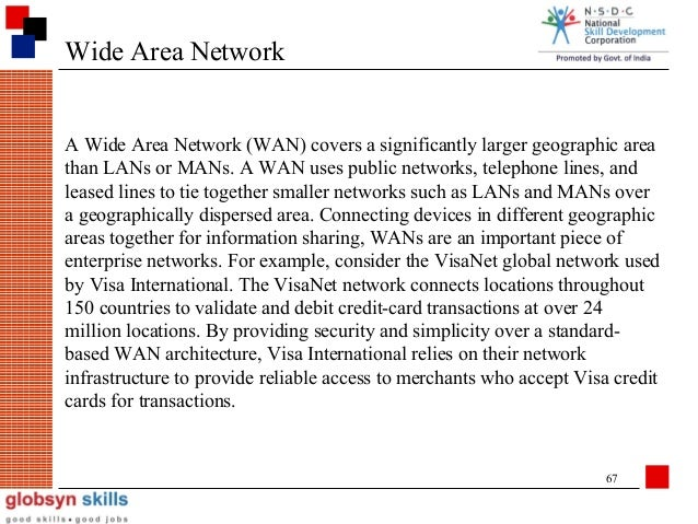 wide area networks essay Local area networks 385 essay 16 local area networks marshall d abrams and harold j podell local area network (lan) communications security is addressed.