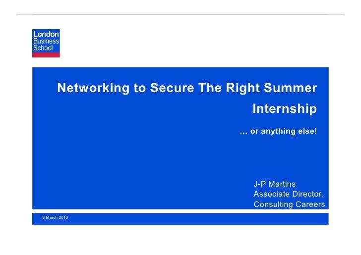 Networking Presentation 08 03 10