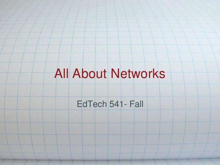 EdTech541 Networking Presentation