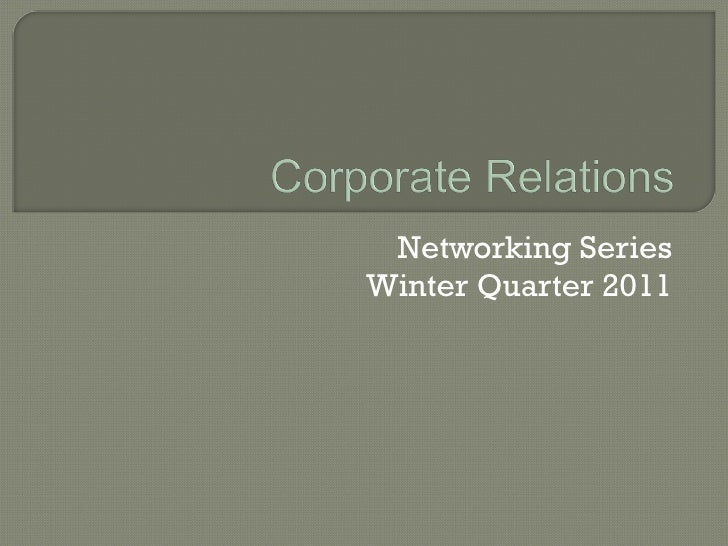 Networking Series - Building a Network