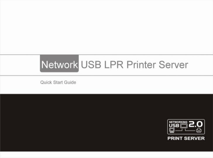 Networking usb printer manual