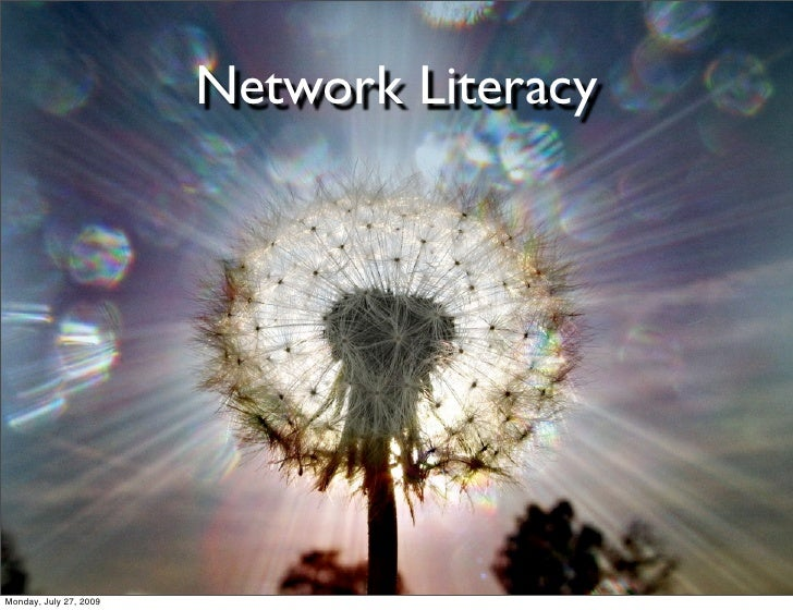 Network Literacy - For EDST499K