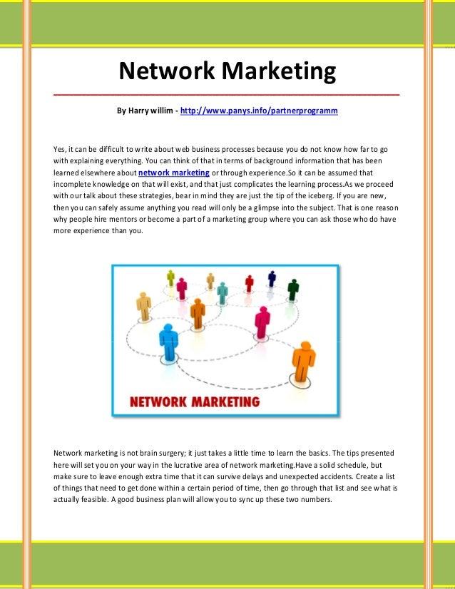 Network Marketing_____________________________________________________________________________________                   B...