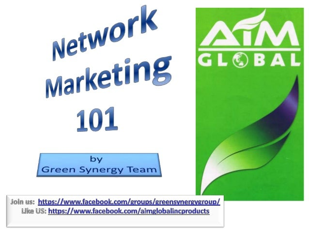 Let's define first Network Marketing, so