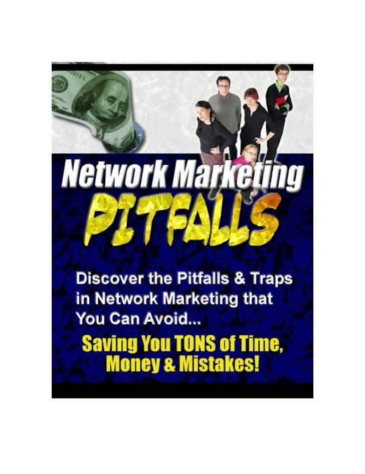 Network Marketing Pitfalls