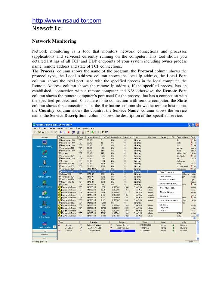 Nsauditor Network Monitoring