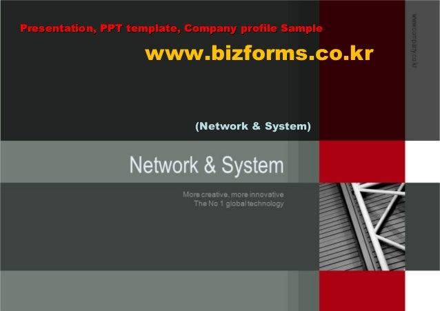 Network & System (네트워크 시스템 사업계획서, 회사소개서, 제안서 샘플)