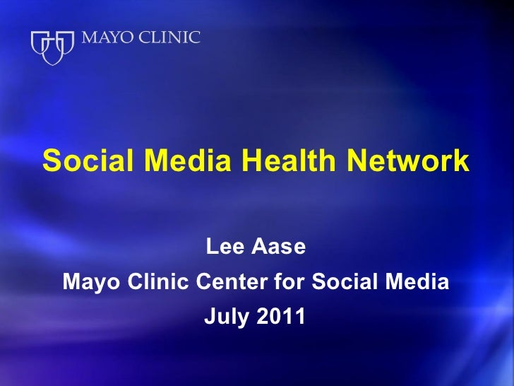 Social Media Health Network Overview
