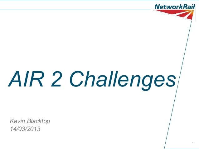 AIR 2 ChallengesKevin Blacktop14/03/2013                   1