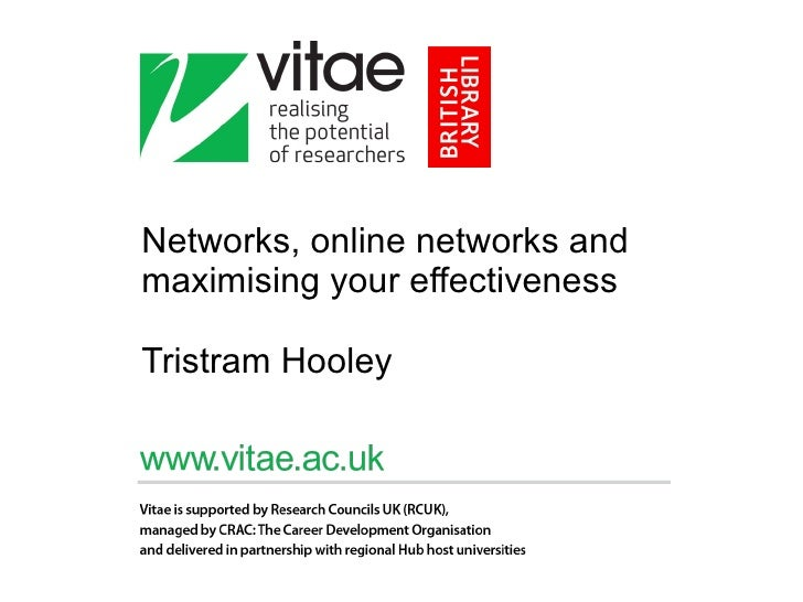 Networks, online networks and maximising your effectiveness