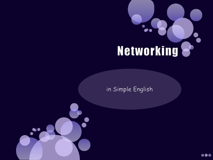 Networking<br />in Simple English<br />